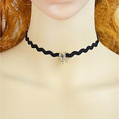 preiswerte Halsketten-Damen Einzelkette Halsketten - Spitze Totenkopf Einfach, Modisch lieblich Schwarz 38 cm Modische Halsketten Schmuck 1pc Für Party / Abend, Schultaschen
