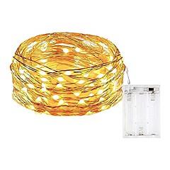 preiswerte LED Lichtstreifen-5m Flexible LED-Leuchtstreifen 50 LEDs SMD 0603 Warmes Weiß / Weiß / Mehrfarbig Wasserfest / Party / Dekorativ AA-Batterien angetrieben 1pc