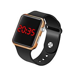 preiswerte Herrenuhren-Herrn Armbanduhr digital 30 m Wasserdicht LCD Silikon Band digital Modisch Minimalistisch Schwarz - Fuchsia Blau Rotgold