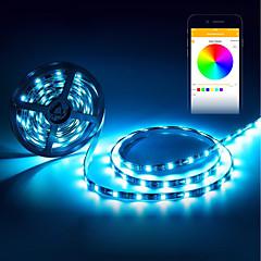 abordables Tiras de Luces RGB-BRELONG® 5 m Tiras de Luces RGB 150 LED 5050 SMD RGB Impermeable / Decorativa / Auto-Adhesivas Alimentado por USB 1pc