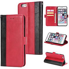 Недорогие Кейсы для iPhone-Кейс для Назначение Apple iPhone 6 Кошелек / Бумажник для карт / Флип Кейс на заднюю панель Однотонный Твердый Кожа PU для iPhone 6