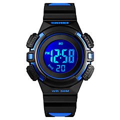 お買い得  レディース腕時計-SKMEI 女性用 スポーツウォッチ 軍用腕時計 デジタル ブラック / ピンク 50 m アラーム カレンダー クロノグラフ付き デジタル ファッション 多色 - Black / Red Blue / Black ピンク 1年間 電池寿命 / ストップウォッチ / 夜光計