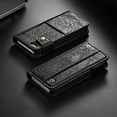 お買い得  iPhone 5S/SE ケース-CaseMe ケース 用途 Apple iPhone 5ケース ウォレット / カードホルダー / スタンド付き フルボディーケース ソリッド ハード PUレザー のために iPhone SE / 5s / iPhone 5