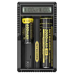 abordables Herramientas de Camping-Nitecore UM20 Cargador de batería para Li-ion Smart, USB, LCD, Detección de circuito, Circuito protegido 18650,18490,18350,17670,17500,16340(RCR123), 14500,10440