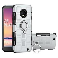 Недорогие Чехлы и кейсы для Motorola-Кейс для Назначение Motorola MOTO G6 / Moto G6 Plus Защита от удара / Кольца-держатели Кейс на заднюю панель броня Твердый ПК для MOTO G6 / Moto G6 Plus / Moto G5s Plus