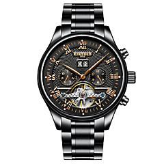 preiswerte Herrenuhren-Herrn Armbanduhr Japanisch Quartz Schwarz Kompass Analog-Digital Modisch - Schwarz / Edelstahl