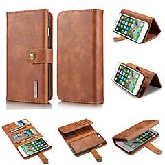 Недорогие Кейсы для iPhone-Кейс для Назначение Apple iPhone XR / iPhone XS Max Кошелек / Бумажник для карт / Защита от удара Чехол Однотонный Твердый Настоящая кожа для iPhone XS / iPhone XR / iPhone XS Max