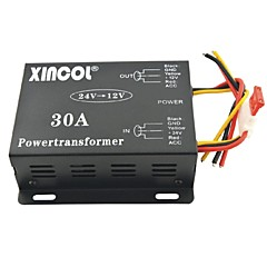 cheap Power Inverter-Xincol® Vehicle Car DC 24V to 12V 30A Power Supply Transformer Converter-Black