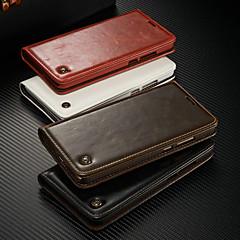 Недорогие Чехлы и кейсы для Huawei Mate-CaseMe Кейс для Назначение Huawei Mate 9 Кошелек / Бумажник для карт / со стендом Чехол Однотонный Твердый Кожа PU для Mate 9