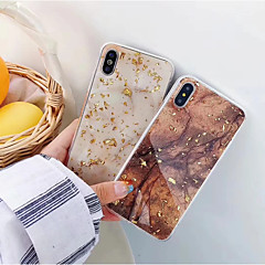 voordelige iPhone-hoesjes-hoesje Voor Apple iPhone XR / iPhone XS Max IMD Achterkant Marmer Zacht TPU voor iPhone XS / iPhone XR / iPhone XS Max