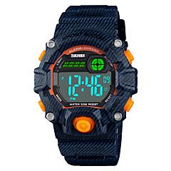 preiswerte Damenuhren-SKMEI Sportuhr Armbanduhr Sender Alarm, Kalender, Chronograph Blau / Rosa / Hellblau / Ein Jahr / Duale Zeitzonen / Stopuhr / Ein Jahr