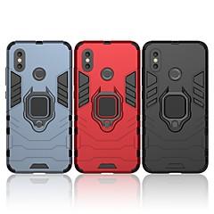 Недорогие Чехлы и кейсы для Xiaomi-Кейс для Назначение Xiaomi Mi 8 Защита от удара / Кольца-держатели Кейс на заднюю панель Однотонный / броня Твердый ПК для Xiaomi Mi 8