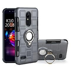 Недорогие Чехлы и кейсы для LG-Кейс для Назначение LG K10 2018 Защита от удара / Кольца-держатели Кейс на заднюю панель броня Твердый ПК для LG K10 2018 / LG K8 / Moto C plus