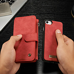 Недорогие Кейсы для iPhone 7-CaseMe Кейс для Назначение Apple iPhone 8 / iPhone 7 Кошелек / Бумажник для карт / со стендом Чехол Однотонный Твердый Кожа PU для iPhone 8 / iPhone 7