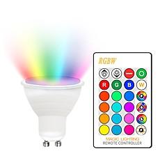 preiswerte LED-Birnen-KWB 1 set 5 W 400-450 lm GU10 / E26 / E27 LED Spot Lampen 2 LED-Perlen COB Abblendbar / Dekorativ / Farbverläufe RGBW 85-265 V
