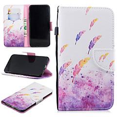 Недорогие Кейсы для iPhone-Кейс для Назначение Apple iPhone XS Max Кошелек / Бумажник для карт / Защита от удара Чехол Бабочка Твердый Кожа PU для iPhone XS Max