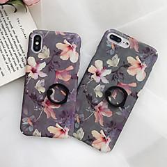 Недорогие Кейсы для iPhone 7 Plus-Кейс для Назначение Apple iPhone XR / iPhone XS Max Кольца-держатели / Ультратонкий / Матовое Кейс на заднюю панель Цветы Твердый ПК для iPhone XS / iPhone XR / iPhone XS Max