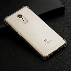 Недорогие Чехлы и кейсы для Xiaomi-Кейс для Назначение Xiaomi Redmi Note 5 Pro / Redmi 6 Защита от удара / Прозрачный Кейс на заднюю панель Однотонный Мягкий ТПУ для Redmi Note 5A / Xiaomi Redmi Note 5 Pro / Xiaomi Redmi Note 4X