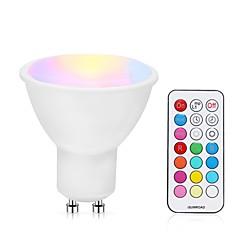 お買い得  LED 電球-1個 5 W 400-500 lm GU10 LEDスポットライト 24 LEDビーズ SMD 調光可能 / リモコン操作 RGBW 85-265 V