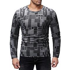 billige Herre Toppe-Herre - Farveblok / Grafisk Trykt mønster Basale T-shirt