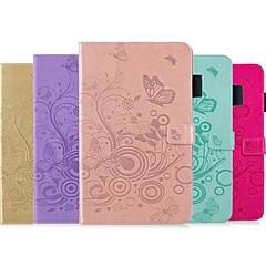 זול מוצרים חדשים-מגן עבור Huawei MediaPad M5 10 (Pro) / MediaPad M5 8 ארנק / מחזיק כרטיסים / עם מעמד כיסוי מלא פרפר קשיח עור PU ל MediaPad M5 10 (Pro) / MediaPad M5 8