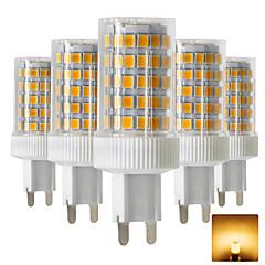 お買い得  LED 電球-5個 10 W 600-800 lm G9 LED2本ピン電球 T 86 LEDビーズ SMD 2835 温白色 / クールホワイト 220-240 V