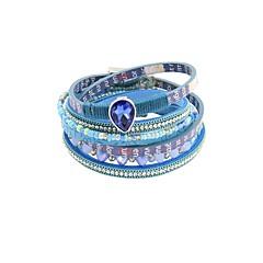 preiswerte Armbänder-Damen Mehrschichtig Lederarmbänder - Retro Armbänder Schmuck Gelb / Blau Für Geschenk Alltag