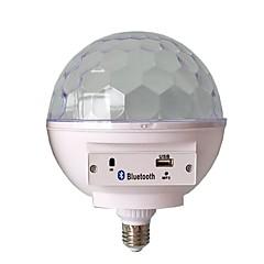 お買い得  LED 電球-1個 6 W 400 lm E26 / E27 LEDスマート電球 6 LEDビーズ SMD 5730 Smart / Bluetooth / 音検知 RGB 85-265 V