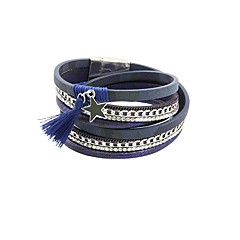 preiswerte Armbänder-Damen Mehrschichtig Lederarmbänder - Retro Armbänder Schmuck Blau Für Geschenk Alltag