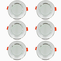 ieftine Lumini de Interior-6pcs 5 W 360 lm 10 LED-uri de margele Ușor de Instalat Încastrat LED Tavan Alb Cald Alb Rece 220-240 V Acasă / Birou Living / Dinning