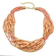 preiswerte Halsketten-Damen Stapelbar Perlenkette - Boho lieblich Beige, Blau, Rosa 44 cm Modische Halsketten Schmuck 1pc Für Alltag