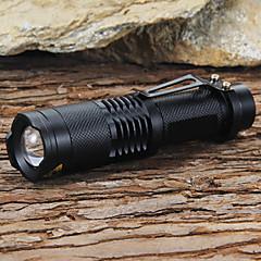 preiswerte Taschenlampen-LED Taschenlampen LED LED 1 Sender 1200 lm 5 Beleuchtungsmodus inklusive Batterie und Ladegerät einstellbarer Fokus, Stoßfest, Schlag-Fassung Camping / Wandern / Erkundungen, Für den täglichen