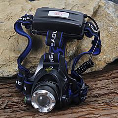 お買い得  ヘッドランプ-ヘッドランプ LED LED 1 エミッタ 1200 lm 3 照明モード キャンプ / ハイキング / ケイビング, サイクリング, 登山 ブラック