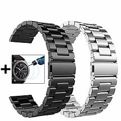 Недорогие -Ремешок для часов для Gear S3 Frontier / Gear S3 Classic / Samsung Galaxy Watch 46 Samsung Galaxy Спортивный ремешок / Миланский ремешок / Бабочка Пряжка Металл / Нержавеющая сталь Повязка на запястье