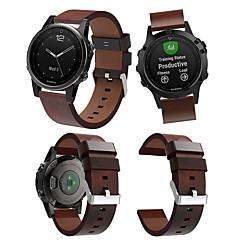 Недорогие -Ремешок для часов для Fenix 5s / Fenix 5s Quickfit Garmin Кожаный ремешок Натуральная кожа Повязка на запястье
