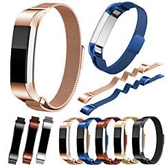 Недорогие -Ремешок для часов для Fitbit Alta HR / Fitbit Alta Fitbit Миланский ремешок Нержавеющая сталь Повязка на запястье