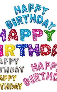 رخيصةأون -13pcs / set 16inch عيد ميلاد سعيد الأبجدية رسالة بالونات متعددة الألوان احباط بالونات حزب