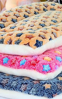 رخيصةأون -كلاب قطط مرتبة السرير أسرة بطانيات السرير قطن حيوانات أليفة الحصير والوسادات ألوان متناوبة ناعم قابلة للطي لون عشوائي