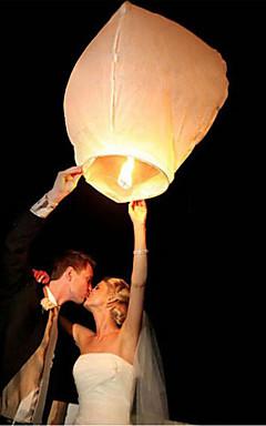 رخيصةأون -10 قطعة / المجموعة متعدد الألوان عالية الجودة الصينية فانوس النار السماء تحلق شمعة مصباح ل حفل زفاف عيد فانوس مصباح رغبة السماء الفوانيس