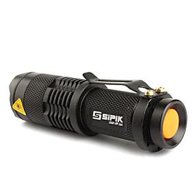 olcso Zseblámpák-SK68 LED zseblámpák LED Cree® XR-E Q5 1 Sugárzók 200 lm 1 világítás mód Taktikai Nagyítható Állítható fókusz Kempingezés / Túrázás / Barlangászat Mindennapokra