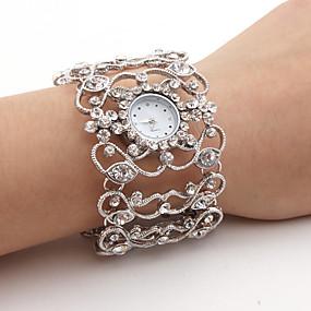 billige Bohemeure-Dame Luksus Ure Armbåndsur Diamond Watch Japansk Quartz Sølv Afslappet Ur Analog Damer Glitrende Armring Mode - Sølv Et år Batteri Levetid / SSUO SR626SW