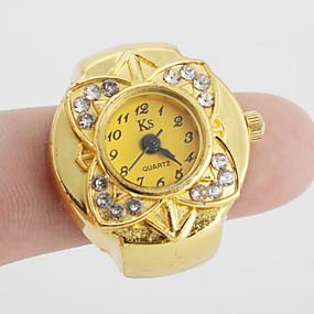economico Orologi ad anello-Per donna Orologio anello orologio d'oro Giapponese Quarzo Oro Orologio casual Donne Fiore Vintage - Oro Un anno Durata della batteria / SSUO SR626SW