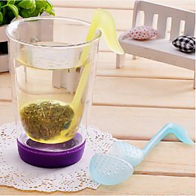 baratos Até R$ 3,39-fonético símbolo em forma de chá deixa filtro coador (cor aleatória)