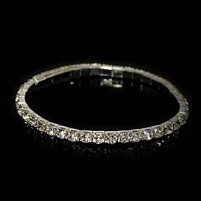 billige $0.99 Mode smykker-Herre Kvadratisk Zirconium lille diamant Tennisarmbånd Zirkonium Damer Armbånd Smykker Sølv Til Julegaver Daglig