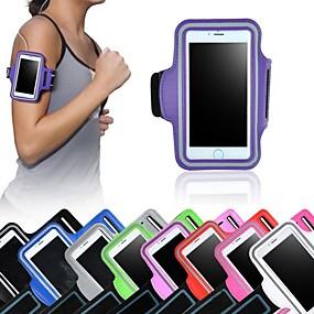 olcso iPhone tokok-Case Kompatibilitás iPhone 6s Plus / iPhone 6 Plus / Univerzális Betekintő ablakkal / Felkarkötő Karpánt Egyszínű Puha Textil mert