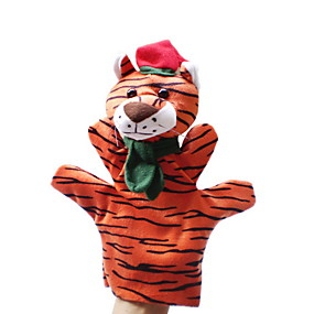 cheap Toy & Game-Tiger Finger Puppets Novelty Cartoon Textile Girls' Gift