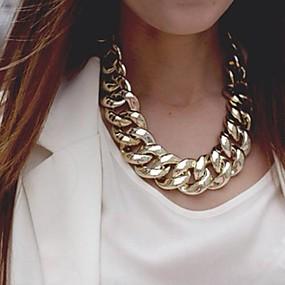 tanie 10% TANIEJ i więcej-Damskie Łańcuszki na szyję Duże Europejskie Złoty Srebrny Naszyjniki Biżuteria Na Impreza Specjalne okazje Urodziny Prezent