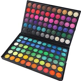 זול איפור וטיפול בציפורניים-120 צבעים צלליות / אבקות עין מאט / מנצנצים / זוהר ונוצץ / מָלֵא עָשָׁן איפור למסיבה קוֹסמֵטִי / מט