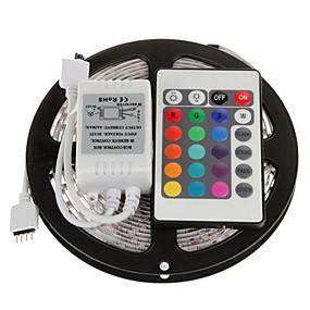 olcso LED szalagfények-5m 300x5050 smd rgb LED-es sávfény 24 kulcsos távirányítóval (dc12v)