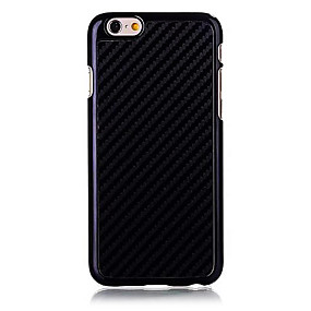 abordables Coques d'iPhone-Coque Pour Apple iPhone 6 Plus / iPhone 6 Coque Couleur Pleine Dur Fibre de carbone pour iPhone 6s Plus / iPhone 6s / iPhone 6 Plus